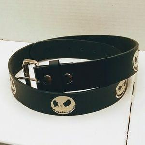 Other - Black leather Jack Skellington belt